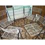 Jogo De Cadeiras De Arame Pintadas Usadas No Estado