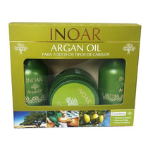 Inoar - Kit Argan Oil - Shampoo/leave In/máscara