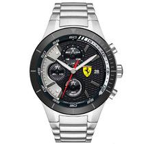 Relógio Ferrari 830263 Preto Prata Garantia 12x Sem Juros