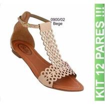 Sandálias Feminina Atacado Calçados Gladiadora12 Pares