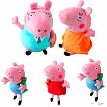 Família Da Peppa Pig + 1 George Extra - Pelúcia