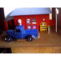 Diorama Posto De Gasolina Esso Escala 1/24