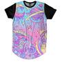 Acid Tripppy Hippie Rave Galaxia Planetas Camiseta Alongada