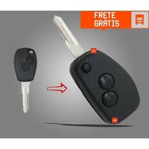 Chave Canivete Alarme Renault Duster Sandero Logan Clio