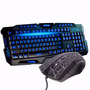 Kit Gamer Led Teclado + Mouse Neon 1600dpi Usb Legends Luzes
