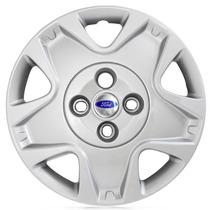 Jogo Calota Aro 14 Fiesta Hatch 11/12 Cubo Baixo C/emblema