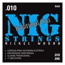Encordoamento Para Guitarra Eletrica Nig 010/046 N64