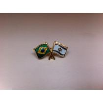 Pins Da Bandeira Do Brasil X Israel