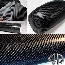 Adesivo Envelopamento Tuning Fibra Carbono 4d - 1m X 30cm