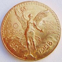 Moeda De Ouro Maciço 41.4 G 22 K 50 Pesos Mexicanos México