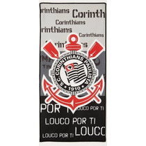 Toalha De Praia Microfibra Corinthians 1,40x70cm Corttex