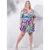 Vestido Festa / Balada Plus Size Florido ( Roupa Plus Size )