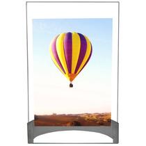 Porta Retrato Vertical Foto 15x21cm Vidro Com Suporte Inox