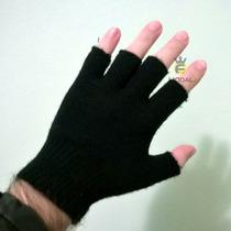 Luva Lã Dedo Cortado Feminino Masculino E Gorro - 2 Peças