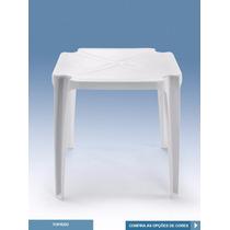 Mesa Plastica Monobloco Branca - Topazio