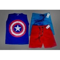 Camisetas Estampadas Capitao America Roupa Infantil Heróis