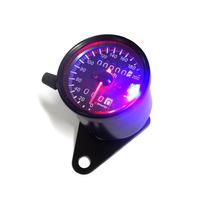 Painel Universal Custom Velocimetro Preto Moto Cafe Racer