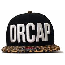Bonés Drcap Leopard Black Fivela Metálica Onça