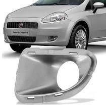 Grade Farol Milha Parachoque Fiat Punto Prata C/furo Esquerd