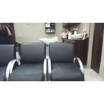 Cadeira Poltrona Manicure Cabeleireiro Inox Salão Beleza