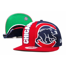 Boné New Chicago Cubs Nc Script Snapback Aba Reta Red/blue