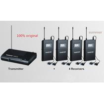 Retorno Monitor Sem Fio Kit C/4 Transmissores Wpm-200r
