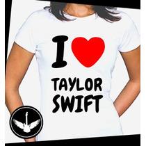 Camiseta Taylor Swift Baby Look Cantora Blusa Camisa