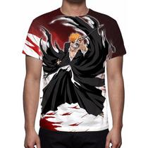 Camisa, Camiseta Anime Bleach - Ichigo Kurosaki Mod 02