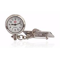 Relógio De Lapela Em Metal Para Enfermagem