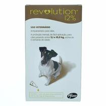 Anti Pulgas Revolution 0.50ml P/ Cães 5,1 A 10 Kg 3 Pipetas