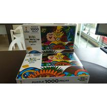 Quebra Cabeça Puzzle 1000 Peças Romero Britto Brazil Grow