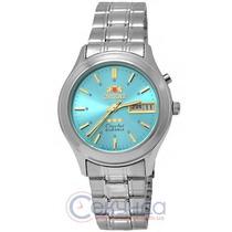 Relógio Automatico Aço Orient 3 Estrelas Fem0301zl9