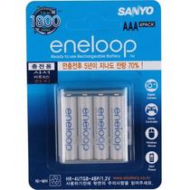 Sanyo Eneloop Aaa 4 Pilhas + Case 800mah 100% Qual Posit