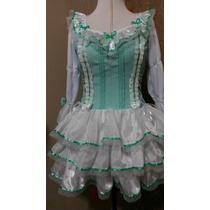 Vestido Festa Juninaquadrilha Caipira Lolita Noiva Verdeagua