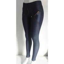Calça Cotton Jeans Com Bolsos (imita Jeans Tecido Grosso)
