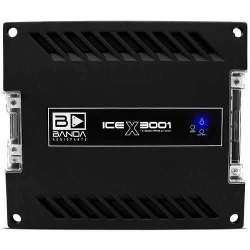 Módulo Banda Ice X3001 3000 Rms 1 Ohm Crossover Integrado