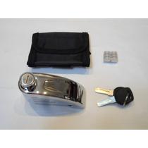 Trava Disco Moto Alarme Anti Furto Universal Cadeado Cromada