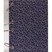 Caderno Pequeno Argolado Fichário Folhas Az 170x230 192 Fls