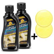 2 Kits Limpa Hidrata Couro Autoshine 200ml + Esponja Grátis
