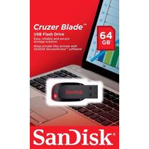 Pen Drive Sandisk Usb Cruzer Blade 64gb Original Lacrado