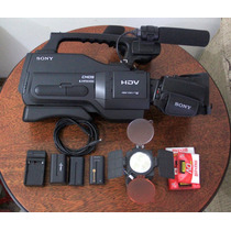 Kit Filmadora Sony Hvr Hd1000 + Baterias + Iluminador + Case