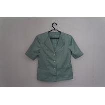 Camisa Feminina Social Verde Mangas Ref. M5