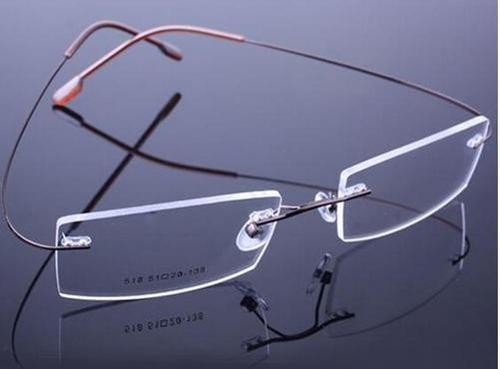 Armação Óculos Novo Titânio Três Peças Discreta Sem Aro Bf R 39.99 ... 536e70efed
