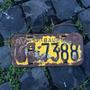 Placa Amarela Antiga Dianteira Qb-7388 Bauru - Sp