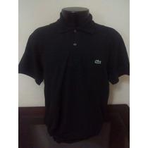 Camiseta Lacoste Gola Polo-slim-preta-tamanho 7-xgg