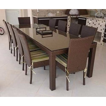 Conjunto Mesa Bali 10 Cadeiras - Apucarana Artesanatos