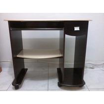 Rack Para Computador Com Rodinhas - Mdf - Tabaco E Marfim