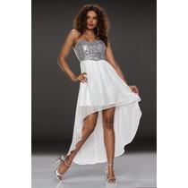 Vestido Curto Na Frente E Longo Atrás (branco)