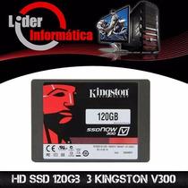 Hd Ssd 120 Gb 3 Kingston V300 - 450 Mb/s (10x + Rápido)!!