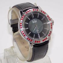 Sx35196p Relógio Dumont Feminino, Pulseira Couro Preto, C...